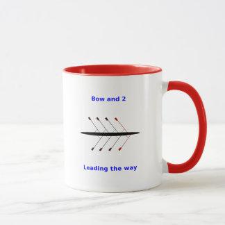 Rowing 2-sided custom name Bow 2 crew Mug