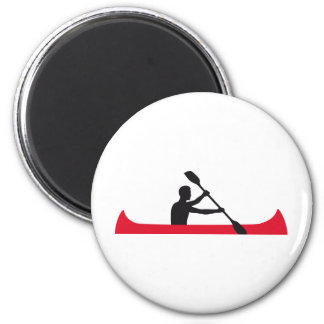 rowing 6 cm round magnet