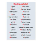 Rowing A to Z fun alphabet motivational Postcard