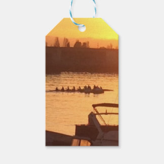 Rowing at Sunset Gift Tags