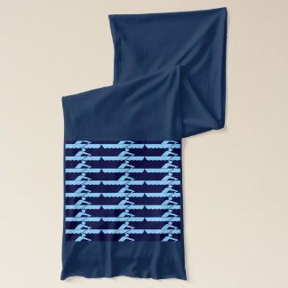 Rowing - Blue Scarf