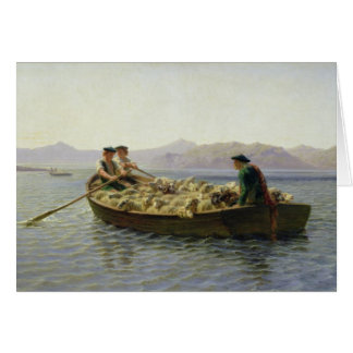 Rowing-Boat, 1863 Card