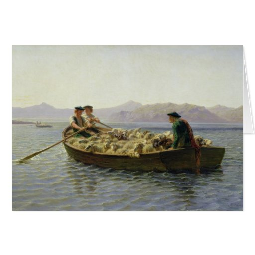Rowing-Boat, 1863 Greeting Card