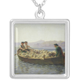 Rowing-Boat, 1863 Silver Plated Necklace