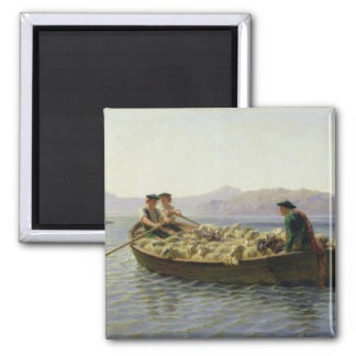 Rowing-Boat, 1863 Square Magnet
