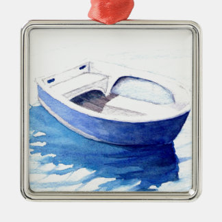 Rowing boat christmas ornament
