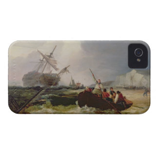 Rowing Boat Going to the Aid of a Man-o'-War in a iPhone 4 Cover