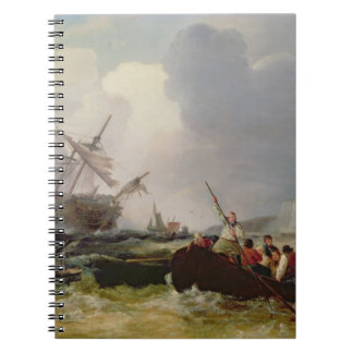 Rowing Boat Going to the Aid of a Man-o'-War in a Notebooks