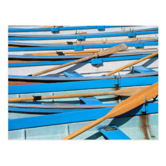 Rowing boats at Henley on Thames UK Postcard