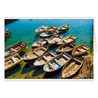 Rowing Boats Card