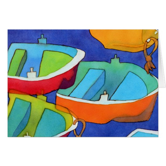 Rowing Boats Notecard