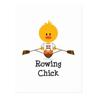 Rowing Chick Postcard