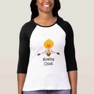 Rowing Chick Raglan Tshirt
