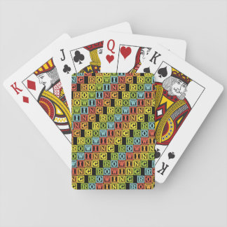 Rowing crew lettering colourful pattern playing cards