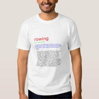 rowing defined tshirts