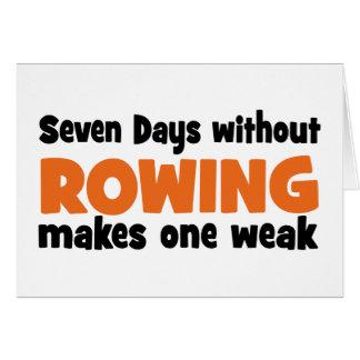 rowing grußkarten