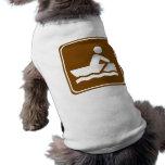 Rowing Highway Sign Doggie Tee Shirt