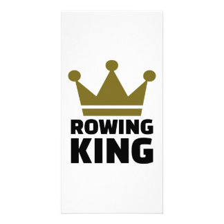 Rowing king personalised photo card