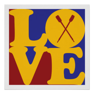 Rowing Love Posters