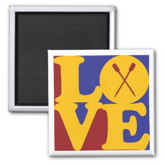Rowing Love Square Magnet