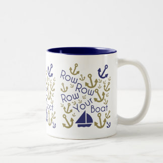 Rowing Mug - Blue & Gold
