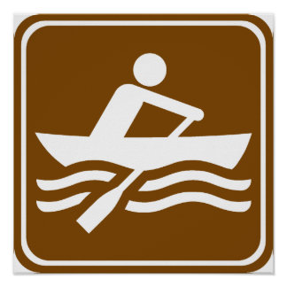 Rowing Recreational Highway Sign Poster