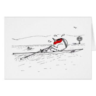 Rowing Robin Card