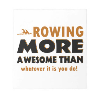 Rowing sports designs notepad