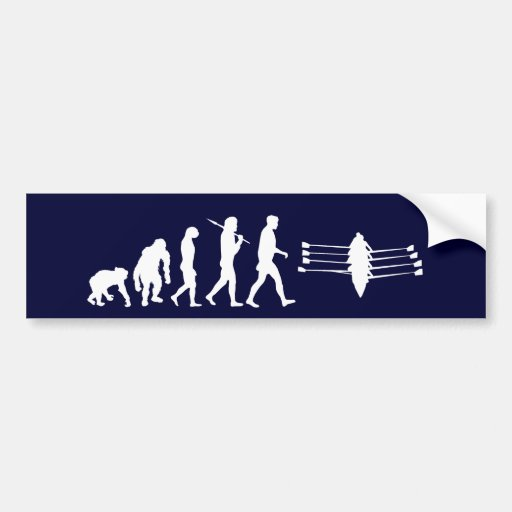 Rowing Sports Fan Mens Athlete Rowing Crew Bumper Sticker