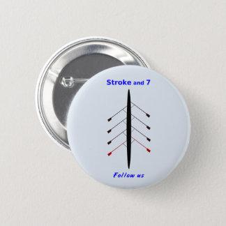 Rowing stroke seven seats 6 cm round badge