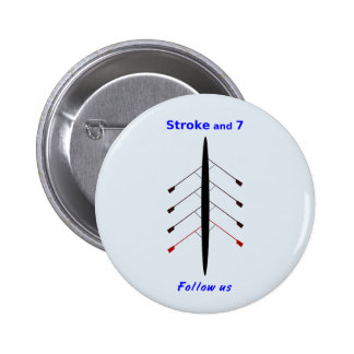 Rowing stroke seven seats 6 cm round badge