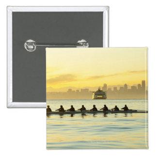 Rowing Team 2 15 Cm Square Badge