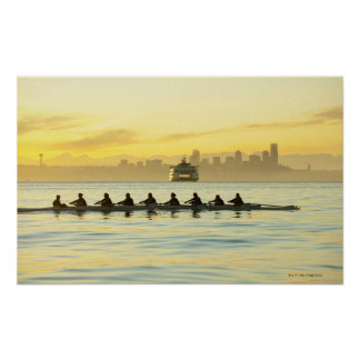 Rowing Team 2 Poster