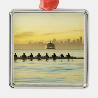 Rowing Team 2 Silver-Colored Square Decoration