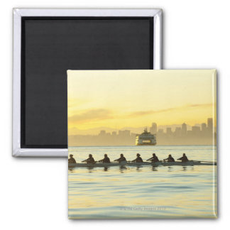 Rowing Team 2 Square Magnet