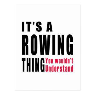 Rowing Thing Designs Postcard