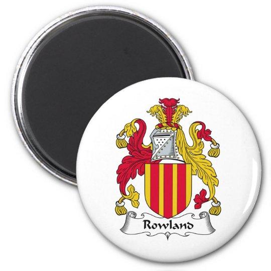 Rowland Family Crest 6 Cm Round Magnet