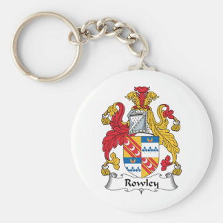 Rowley Family Crest Basic Round Button Key Ring