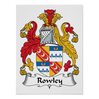 Rowley Family Crest Posters