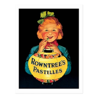 Rowntree's Pastilles VIntage Candy Ad Post Card