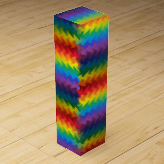 Rows of a Rainbow Fire Wine Gift Box