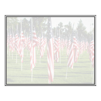 Rows of American Flags - 9/11 Memorial Personalized Flyer