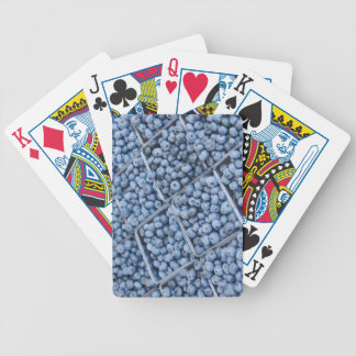 Rows of blueberries bicycle playing cards