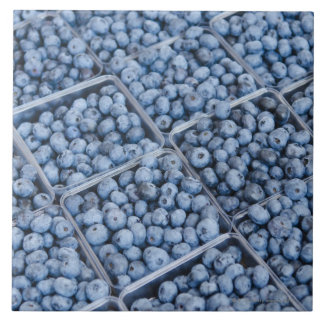 Rows of blueberries tile