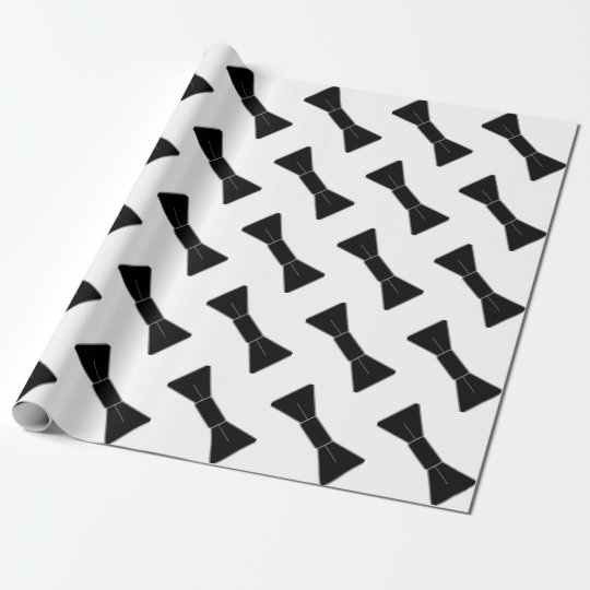 Rows of Bow Ties Wrapping Paper