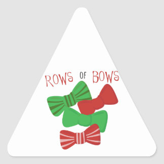 Rows Of Bows Triangle Sticker