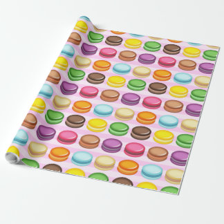 Rows of Macarons Wrapping Paper