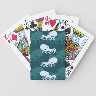 Rows Of Octopus Pattern Bicycle Playing Cards