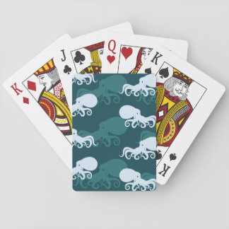 Rows Of Octopus Pattern Playing Cards