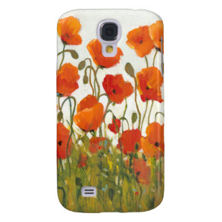 Rows of Poppies I Galaxy S4 Case